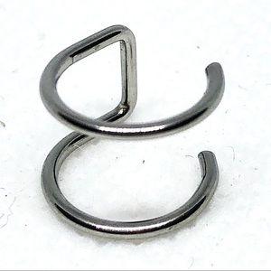 Ear cuff/fake lip ring 4/$13